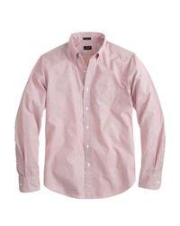 J.Crew - Pink Slim Secret Wash Shirt In Woven Dots for Men - Lyst