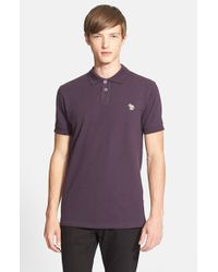 Paul Smith | Purple Cotton Pique Polo for Men | Lyst