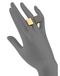Chloé | Bettina Black Agate Double Rectangle Ring | Lyst