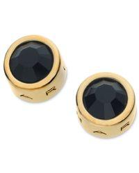 T Tahari - Metallic 14k Gold-plated Jet Crystal Stud Earrings - Lyst