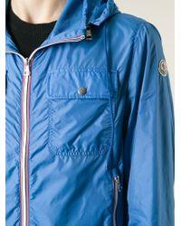 Moncler - Blue Hooded Windbreaker for Men - Lyst