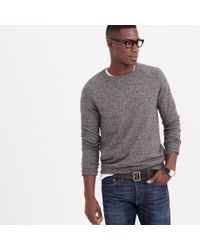 J.Crew - Gray Marled Cotton Sweater for Men - Lyst