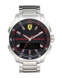 Scuderia Ferrari - Metallic 'aero Evo' Ana-digi Bracelet Watch for Men - Lyst