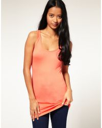 ASOS | Orange Basic Longline Vest | Lyst