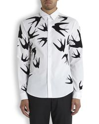 McQ - Natural Swallow Print Poplin Shirt for Men - Lyst