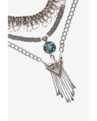 Nasty Gal   Metallic Raina Chain Necklace   Lyst