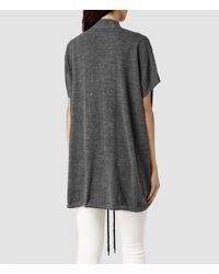 AllSaints - Gray Morar Gilet - Lyst