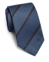 Burberry | Blue Rohan Exploded Stripe Silk Tie for Men | Lyst