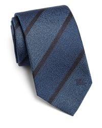Burberry - Blue Rohan Exploded Stripe Silk Tie for Men - Lyst