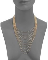 Panacea | Metallic Golden Nested Chain Necklace | Lyst
