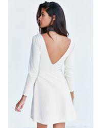 Kimchi Blue - White Ramona Textured Plunge Dress - Lyst