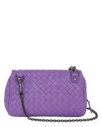 Bottega Veneta | Purple Small Intrecciato Nappa Leather Bag | Lyst