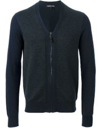 Michael Kors - Blue V-neck Cardigan for Men - Lyst