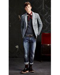 BOSS Orange | Gray Patterned Regular-fit Jacket In Cotton: 'beddie-w' for Men | Lyst