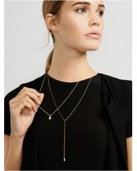 BaubleBar | Metallic Pearl Bulb Layered Necklace | Lyst
