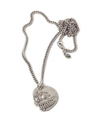 Cheap Monday | Metallic Skull Necklace for Men | Lyst