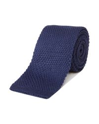 HUGO | Blue Plain Tie for Men | Lyst