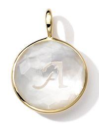 Ippolita | White 18k Gold Lollipop Letter Charm | Lyst