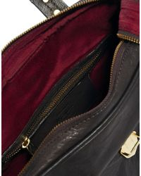 Pepe Jeans - Brown Tab Detail Leather Box Bag - Lyst