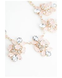 Missguided - Pink Clodagh Floral Cluster Statement Necklace Gold - Lyst