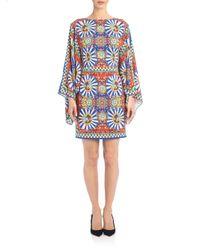 Dolce & Gabbana - Blue Apron Brocade Dress - Lyst