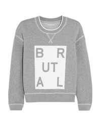 Richard Nicoll - Gray Brutal Printed Cotton-Jersey Sweatshirt - Lyst