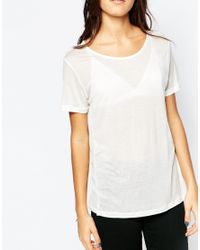 SELECTED - Natural Rosmina Short Sleeved Tee - Lyst