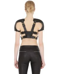 Fleet Ilya | Black Cutout Leather Harness With Straps | Lyst