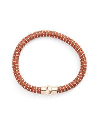 Nu Brand | Brown Beaded Bracelet | Lyst