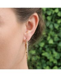 Sylva & Cie | Metallic Thorn Hoop Earrings | Lyst