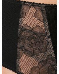 Fleur du Mal - Black Rose Lace Garter Belt - Lyst
