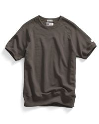 Todd Snyder | Short Sleeve Sweatshirt In Earth Brown for Men | Lyst
