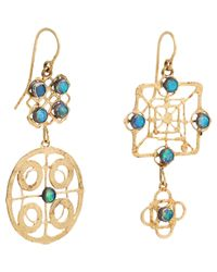 Judy Geib | Metallic Women's Mismatched Drop Earrings | Lyst