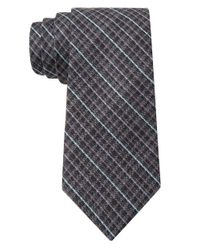 William Rast | Black Silk-Blend Plaid Tie for Men | Lyst