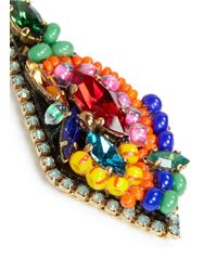 Erickson Beamon | Multicolor ''kumbaya' Crystal Kite Drop Earrings | Lyst