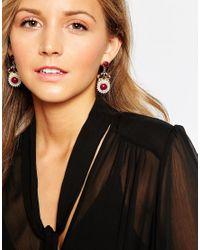 Ashiana | Red Ornate Drop Earrings | Lyst