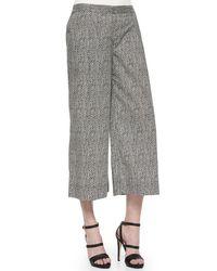 Eileen Fisher - Black Bandhini-print Cropped Pants - Lyst