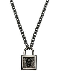 John Richmond - Black Necklace - Lyst