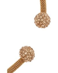 Kenneth Jay Lane - Pink Rose Goldplated Crystal Necklace - Lyst