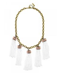 BaubleBar - Metallic Bahama Tassel Collar - Lyst