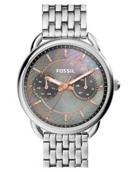 Fossil | Metallic 'tailor' Multifunction Watch | Lyst