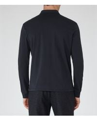 Reiss | Blue Parry Long Sleeve Polo Shirt for Men | Lyst