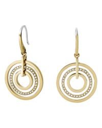Michael Kors | Metallic Pavé Disc Earrings | Lyst