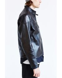 Urban Outfitters - Black Schott Worn Cafe Racer Leather Jacket for Men - Lyst