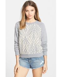 Billabong | Gray 'Float On' Burnout Pullover | Lyst