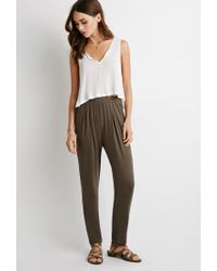 Forever 21 | Green Pleat-front Tapered Pants | Lyst