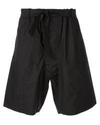 Marni - Black Wide Leg Shorts for Men - Lyst