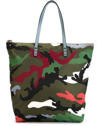 Valentino - Green Camouflage Tote for Men - Lyst