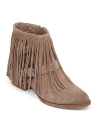 BCBGeneration | Brown Capricorn Suede Fringe Booties | Lyst