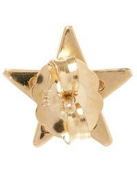 Andrea Fohrman | Metallic Gold Black Diamond Star Stud Earring | Lyst